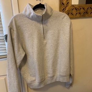 Gray quarter zip hoodie Brandy Melville